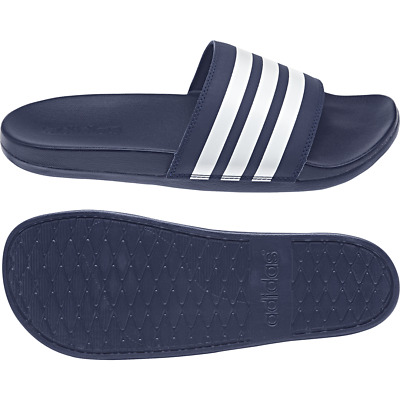 AU26.52 • Buy Adidas Men Sandals Adilette Cloudfoam Plus Stripes Slides Beach Blue B42114 New