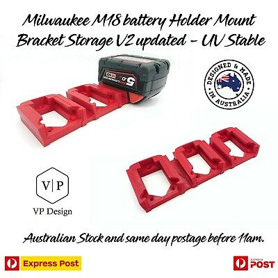 AU31.97 • Buy Milwaukee M18 Battery Holder Mount Bracket Storage Triple V2