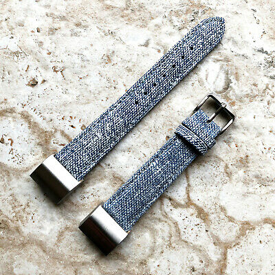 AU46.38 • Buy JLB-CH2 Soft Leather Jeans Band Strap With Adapters For Fitbit Charge 2