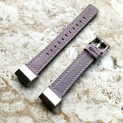 AU45.99 • Buy Purple Color Soft Leather Band Strap With White Stitches For Fitbit Charge 2
