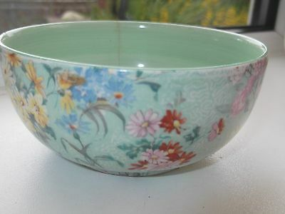 Shelley  Small Sugar Bowl With A Floral Pattern  On A Green Background  Melody • 20.99£