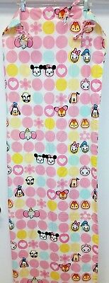 Disney Cuties 1 Pair Of Curtain Panels Pink White Mickey Mouse Minnie Bambi • 14.62£