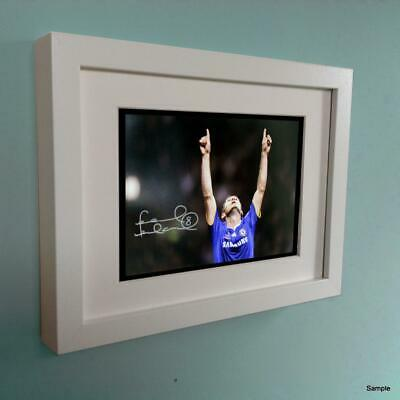 Signed 7x5 Autographed Frank Lampard Chelsea Photo Photograph Picture Frame WT • 20£