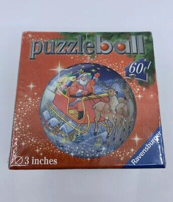 $19.95 • Buy NEW Ravensburger - 60 Piece 3D Christmas Puzzle Ball - Santa's Sleigh + Reindeer