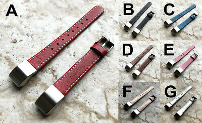 AU50.39 • Buy Classic Modern Elegant Soft Leather Band Strap With Stitches For Fitbit Alta HR