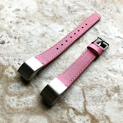 AU50.45 • Buy Pink Stylish Unisex Soft Leather Band Strap With Stitches For Fitbit Alta HR