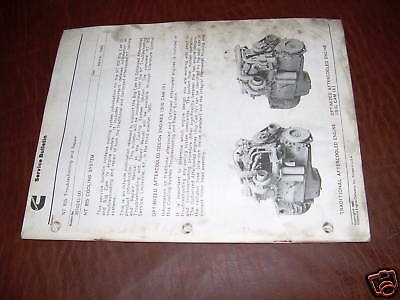 AU71.39 • Buy Cummins Engine Service Bulletin Nt 855 Manual