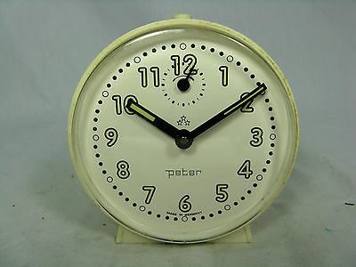 Schöner / Cool 70´s Design PETER  Wecker  # Alarm Clock In Working Condition • 25.71£