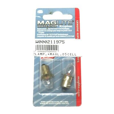 Maglite Bulbs, D-2 Cell,D-3 Cell, D-4 Cell, AAA 1-cell, AA 2- Cell 6V Nicad  • 3£