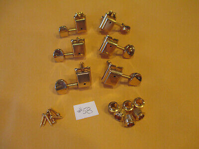 $ CDN60.33 • Buy Fernandes Le2 6 Inline Vintage Style - Gold Guitar Tuner Tuning Pegs #58
