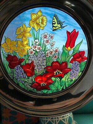 $ CDN49.98 • Buy Us Historical Society Stained Glass Pewter Plate Maryrose Wampler 1984