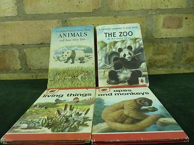 Vintage 4 Ladybird Books Animals , The Zoo , Apes And Monkeys , Living Things • 14.99£