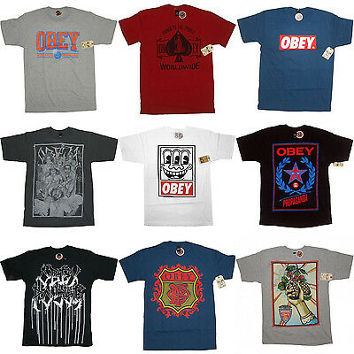 OBEY T-Shirts - Official 100% Genuine - Andre Giant Streetwear T Shirt Clothing • 19.95£