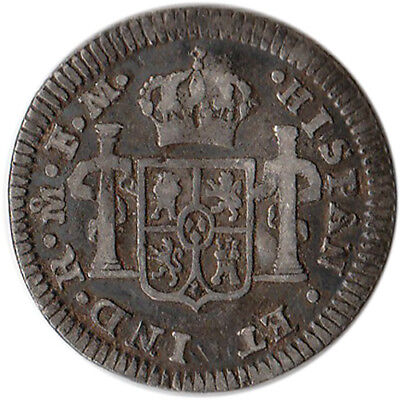 $ CDN68.26 • Buy 1786 Mexico (Spanish) 1/2 Real Silver Coin Charles III KM#69.2a