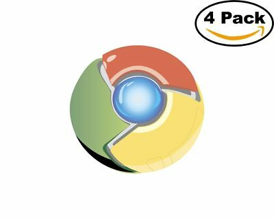 $4.98 • Buy Google Chrome 4 Stickers 4X4 Inches Sticker Decal