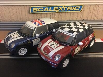 Scalextric John Cooper Challenge Minis No1 & No2 Boxed Excellent Condition • 62£