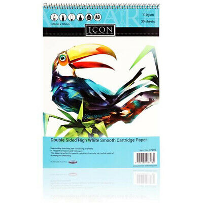 £8.99 • Buy  2 X A3 Wirebound Artist Sketch Pad 110gsm Art Drawing Sheets Sketching Book Set