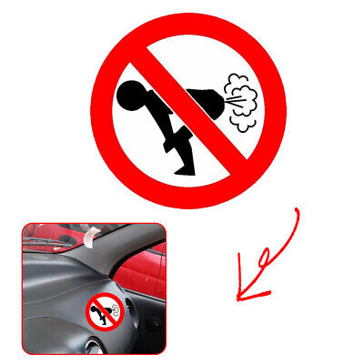 Text Word Funny Car Sticker Car Auto Decoration No Farting Body Decal Universal • 0.99£