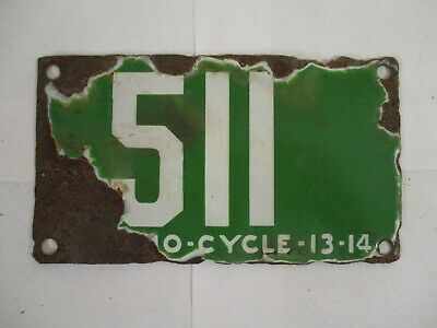 $ CDN725.96 • Buy 1913 1914 Jacksonville Florida MOTORCYCLE  License Plate Tag PORCELAIN