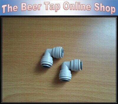 QTY 4 x 3//8 OD Y PIECE CONNECTOR JOHN GUEST SPEED FIT BEER KEG BARREL PIPE TAP