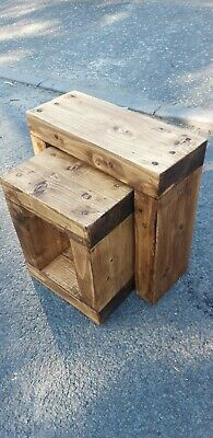 £89.99 • Buy Rustic Chunky Nest Of Tables