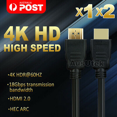 AU8.95 • Buy Premium HDMI Cable V2.0 Ultra HD 4K 2160p 3D High Speed With Ethernet HEC ARC