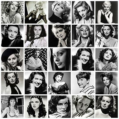 Black And White Films Star Actresses Movie Star Retro A4 Posters Prints Art Deco • 3.99£