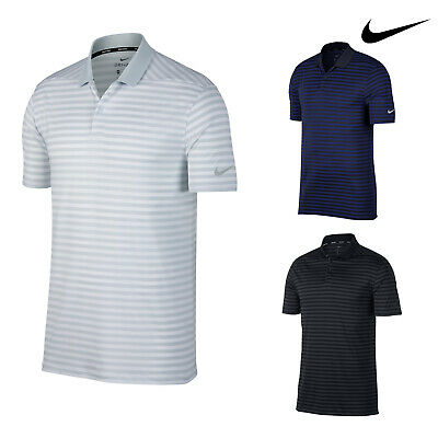 Nike Men's Dry Victory Stripe Golf Polo Shirt (NK311) - Tennis Sport Top • 46.79£