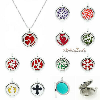AU2.32 • Buy Diffuser Pendant Charms Mini Necklace Lockets Scent Essential Oil Aromatherapy
