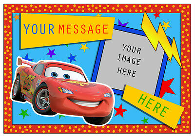 Lightning Mcqueen Personalised A4 Cake Topper Edible Icing Sheet • 4.95£