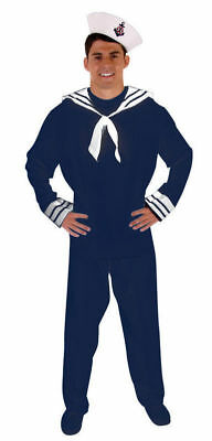 £12.50 • Buy Adult Navy Blue Sailor Man Halloween Party Military Fancy Dress Costume