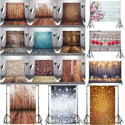 $11.49 • Buy US 3x5ft/5x7ft Retro Wood Plank Background Flash Wall Brick Backdrop Studio Prop