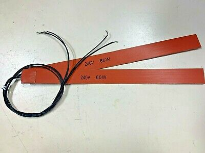 £35.40 • Buy Industrial Flexible Heater Strip 240v 60w Orange Silicone Rubber Electric