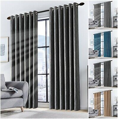 Extra Wide Long Thermal Insulated Ring Top Blackout Room Divider Privacy Curtain • 19.99£