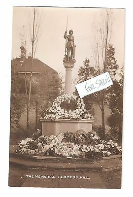 RP Decorated War Memorial Burgess Hill Nr Ditchling  Keymer Unused West Sussex • 9.25£