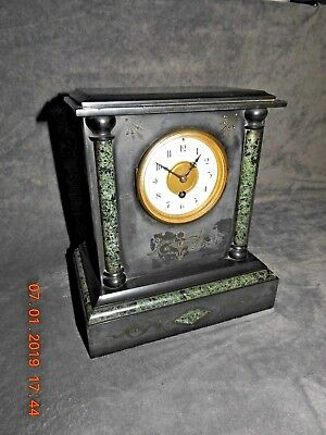 Maple & Co Limited Paris Slate Marble Clock  • 125£
