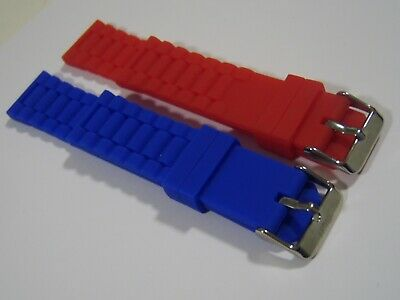 MUFF DIVERS 22mm SILICONE RUBBER Watch STRAP For TAG HEUER / SEIKO RED/BLUE • 8.99£