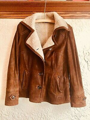 $ CDN175 • Buy Vintage DANIER  Aviator Leather Coat - Women Small