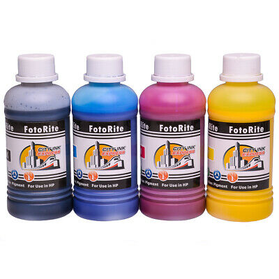 4 X 250ml Pigment Ink Refills For HP OfficeJet Pro 7730, 7740, 8210, 8218, 8710 • 19.99£