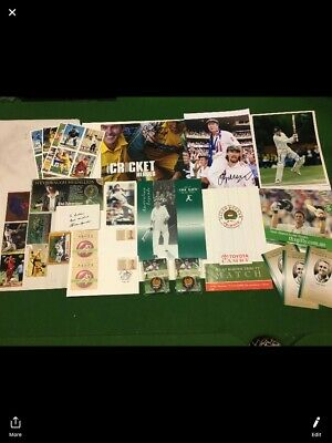 AU100 • Buy Signed Cricket Memorabilia Lot.adam Gilchrist,Allan Border.matt Hayden And More
