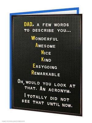 £3.50 • Buy Funny Dad Birthday Card RUDE Witty Comedy Humour Cheeky Joke Daddy Father