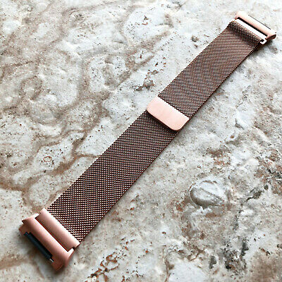 $ CDN38.74 • Buy Modern Rose Gold Color Adjustable Milanese Loop Mesh Band Strap For Fitbit Ionic