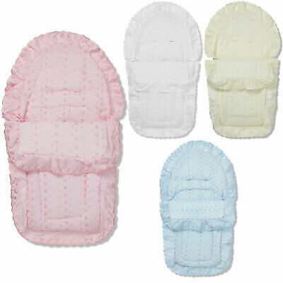 Broderie Anglaise Pushchair Footmuff / Cosy Toes Compatible With Bebecar • 19.99£