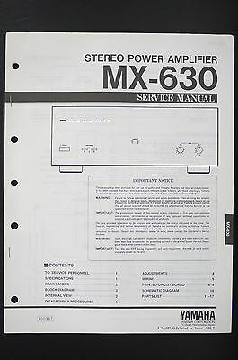 AU49.81 • Buy Yamaha MX-630 Power Amplifier Original Service Manual/Diagram/Parts List O55