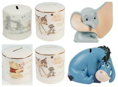 Disney Magical Moments Money Box Piggy Bank  - Bambi , Dumbo, Winnie The Pooh • 16.50£