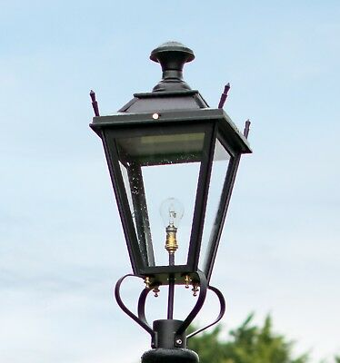 USED Ex-Display 75cm Black Dorchester Lantern Replacement Lamppost Top • 200£