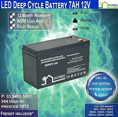 AU29.95 • Buy New 7Ah 12V Sealed Lead Acid AGM Rechargable Battery Alarm Security PICK UP