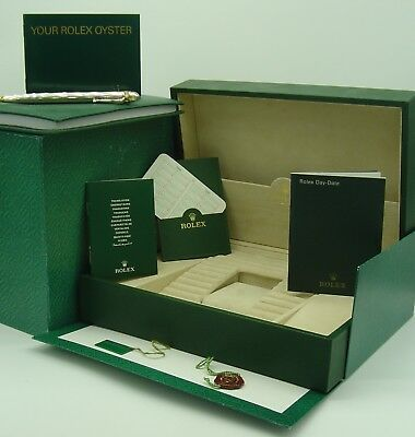 $ CDN817.89 • Buy Genuine Rolex Vintage Day-Date 118206 Box Set 2001 Including Rolex Pen And Pad