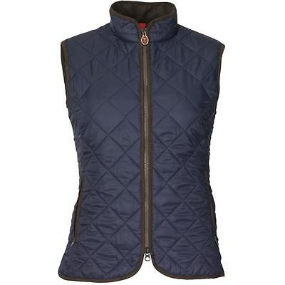 Ladies Laksen Audley Quilted Gilet - Navy - All Sizes - New • 149£