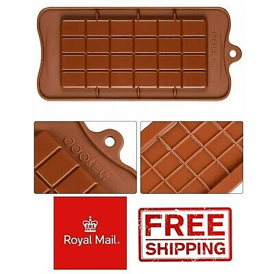 Square Chocolate Mould Bar Block Slab Silicone Cake Candy Sugar Decoration Mold • 2.49£